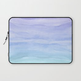 Layers Blue Ombre - Watercolor Abstract Laptop Sleeve