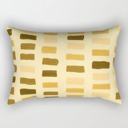 Painted Color Block Rectangles in Yellow Rectangular Pillow