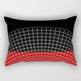 Geometric Rings Rectangular Pillow