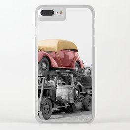 Vintage Car Carrier Clear iPhone Case