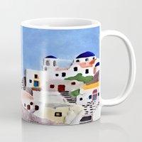 greek Mugs featuring Greek island by Brian Raggatt