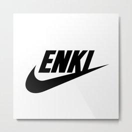 enki logo Metal Print