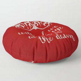 Red as the Dawn Floor Pillow