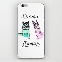 Illustration: Drama Llamas, drama, llama art iPhone Skin