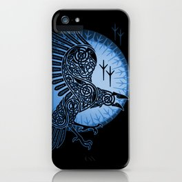Viking Raven of Death - Blue iPhone Case