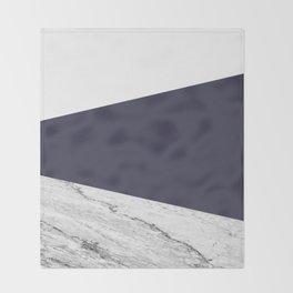 Marble Eclipse blue Geometry Throw Blanket