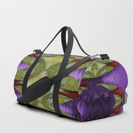 Divine flowers striving to reach universe Duffle Bag