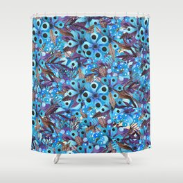 Exactly Where They'd Fall (Floral Pattern) Shower Curtain