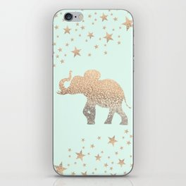 ELEPHANT - GOLD MINT iPhone Skin
