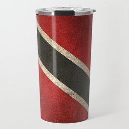 Old and Worn Distressed Vintage Flag of Trinidad and Tobago Travel Mug