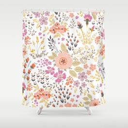 Little colored flowers Shower Curtain