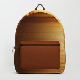 Sea at Sunset-Dark Gold Backpack