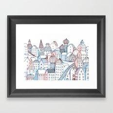 Smalltown Silence Framed Art Print