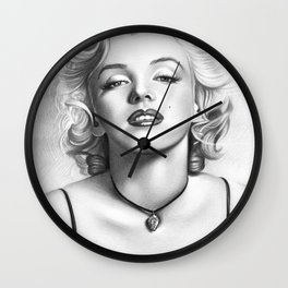 Marilyn drawing Wall Clock