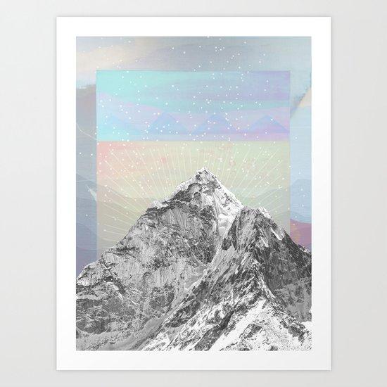Mountain Sprites Art Print
