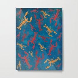 Lobsters Metal Print