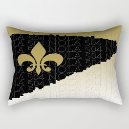 Black gold and white Rectangular Pillow