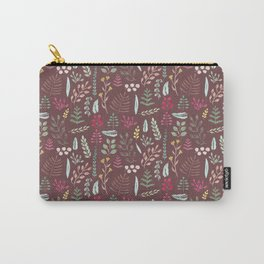 Winter leaves in bordeaux Carry-All Pouch