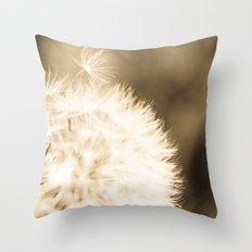 Dandelion Breeze Throw Pillow