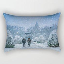 Snow in Boston Rectangular Pillow
