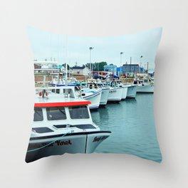Fishing Pier PEI Throw Pillow
