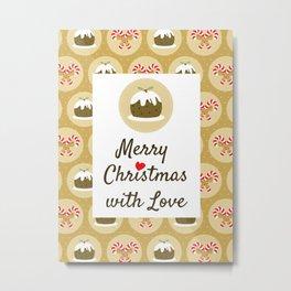 Merry Christmas With Love Metal Print