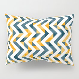 Chevron Oranges and Ink - Geometric Pattern Pillow Sham