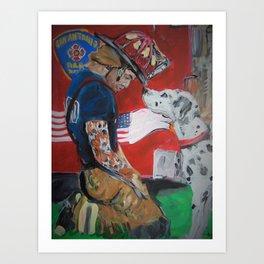 San Antonio Fire Fighter Art Print