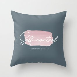 Fruit of the Spirit – Self Control Throw Pillow