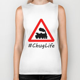 #ChugLife Warning Train Biker Tank