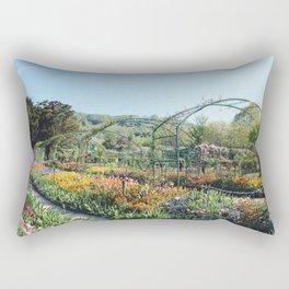Monet's Garden Rectangular Pillow
