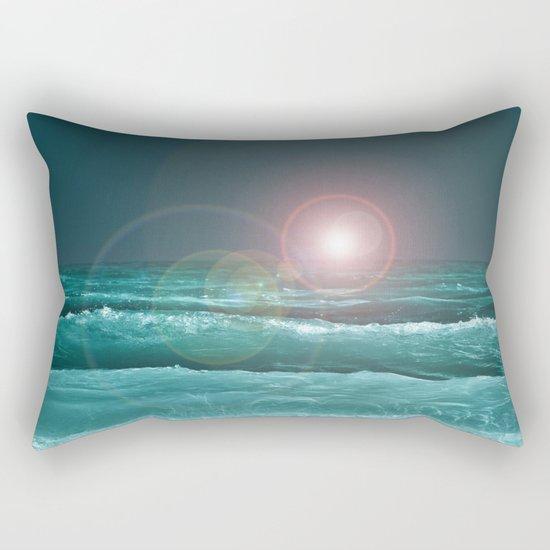 Night Ocean Rectangular Pillow