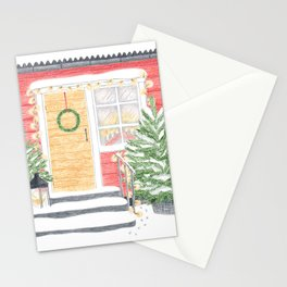 Red House Christmas Stationery Cards