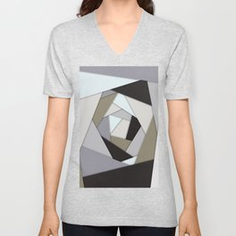 Rotating Geometric Layers Unisex V-Neck