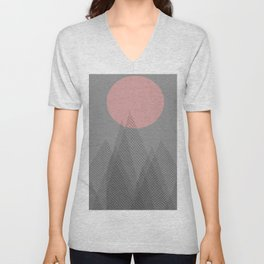 full moon rising Unisex V-Neck