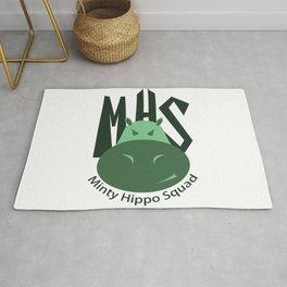 Minty Hippo Squad Rug