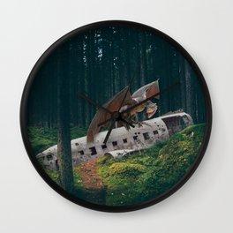 Dragon Plane Crash-Sólheimasandur Plane Crash Wall Clock