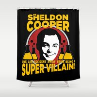 dale cooper Shower Curtains featuring Sheldon Cooper by offbeatzombie