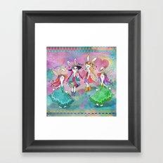Bohemian Summer Bunnies Framed Art Print