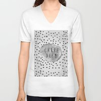 carpe diem V-neck T-shirts featuring CARPE DIEM  by VisualPonderland
