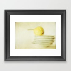 Pear Framed Art Print