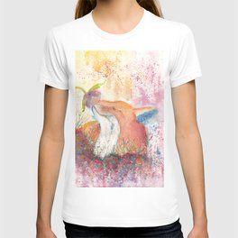 Watercolor Fox in the Forest T-shirt