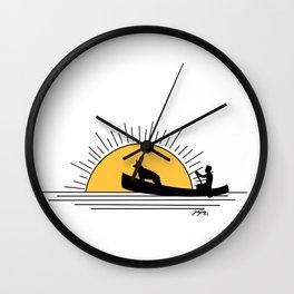 Morning paddle Wall Clock