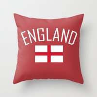 england Throw Pillows featuring England by Earl of Grey