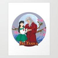 inuyasha Art Prints featuring Inuyasha by jbrinkleyart