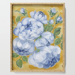 Blue Roses Serving Tray
