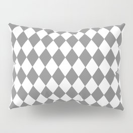 Rhombus (Gray/White) Pillow Sham