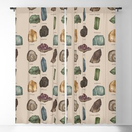 Gems and Minerals Blackout Curtain