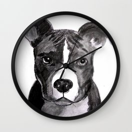 Pit Bull Dogs Lovers Wall Clock