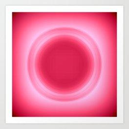 Bubblegum Pink Glow Art Print